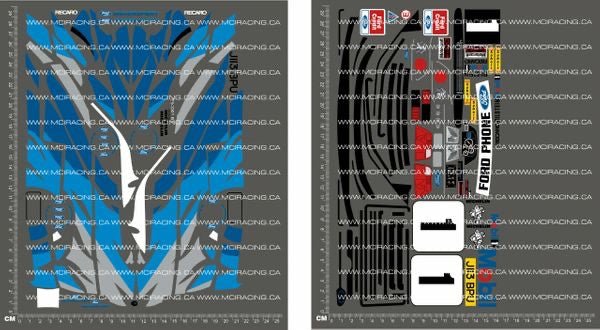 1/10TH TAM 58112 - FORD ESCORT COSWORTH RS -TIGER STRIP DECALS - L&L models