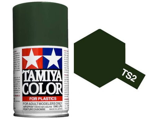 Tamiya 100ml TS-2 Dark Green # 85002