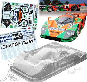 TC017 1/10 Mazda 787B, 190mm, w/3D Wing Mount