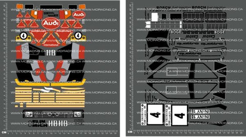 1/10TH AUDI QUATTRO S1 DECALS - L&L models