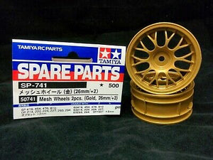 Tamiya Porsche 911 GT1 Front Wheels (26mm) 50741 - L&L models