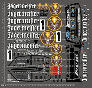 1/10TH TAM 58590 - FORD ZAKSPEED TURBO CAPRI GR.5 JAGERMEISTER DECALS