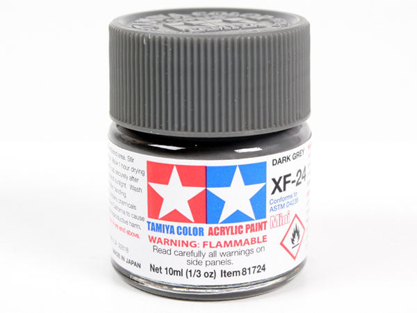 Tamiya XF-24 Dark Grey Mini Acrylic Paint - 10ml 81724