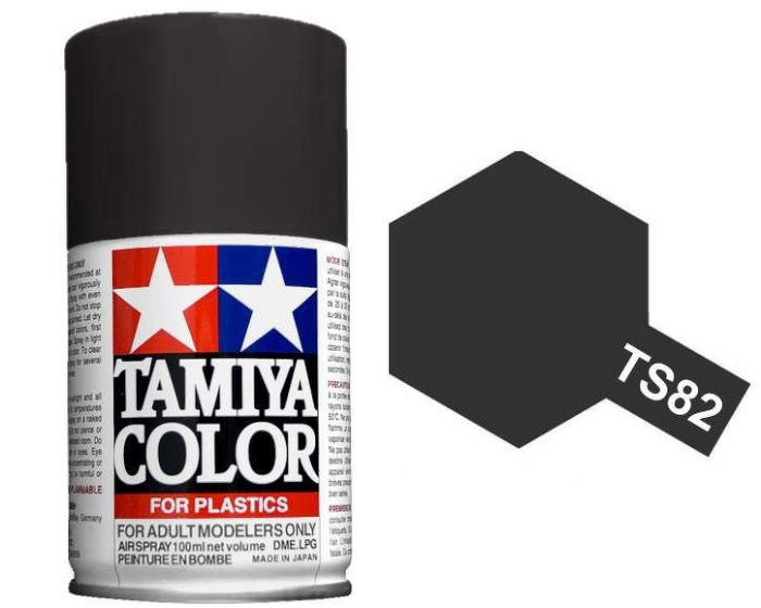 Tamiya 100ml TS-82 Black Rubber # 85082