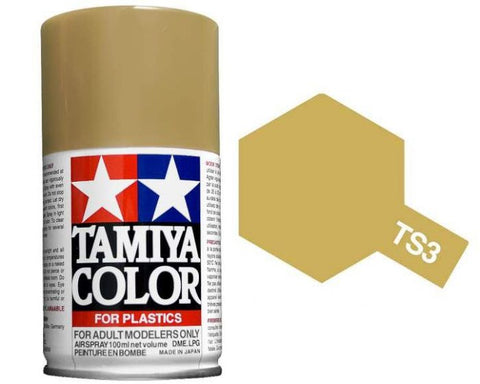 Tamiya 100ml TS-3 Dark Yellow # 85003