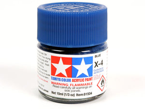 Tamiya X-4 Blue Mini Acrylic Paint - 10ml 81504