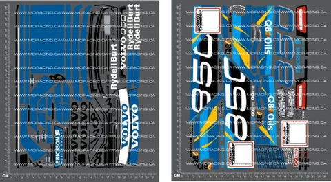 1/10TH TAM 58183 - VOLVO 850 BTCC DECALS - L&L models
