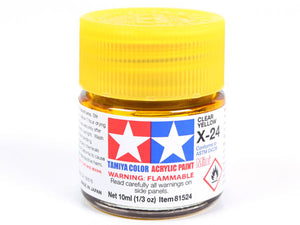 Tamiya X-24 Clear Yellow Mini Acrylic Paint - 10ml 81524