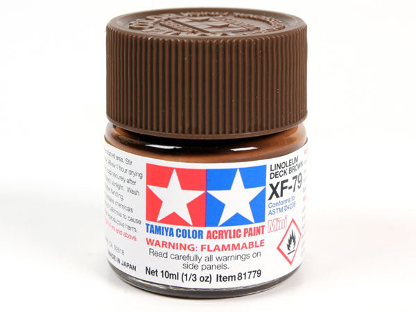 Tamiya Acrylic Mini XF-79 Lino Deck Brown - 10ml 81779