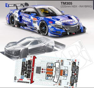 TM305 Honda NSX 225mm M Chassis - L&L models