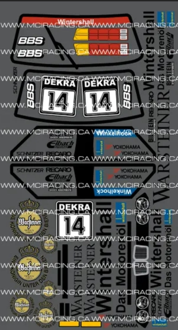 1/12TH BMW M3 - WARSTEINER DECALS - L&L models