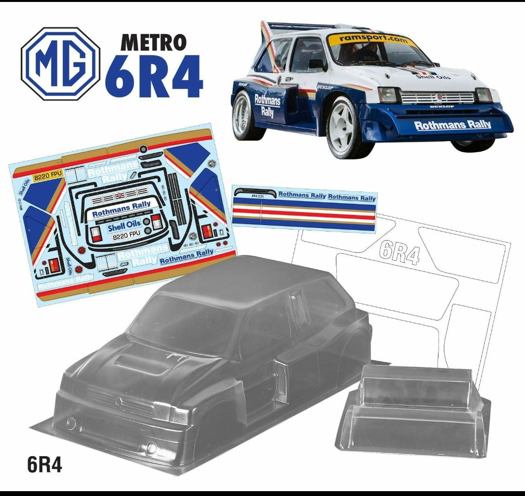 225mm 6R4 Rothmans TAMIYA M CHASSIS