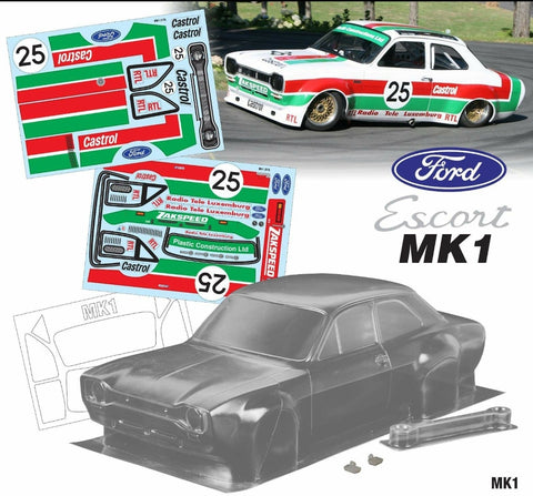 Mk1 Escort Bodyshell Kit 190mm Castrol Zakspeed