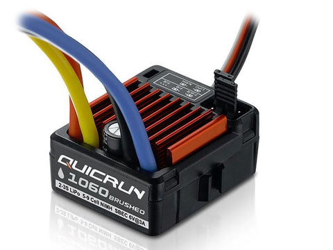 Hobbywing QUICRUN 1060 Brushed Waterproof ESC - Sbec HW30120060007 - L&L models