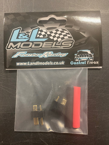 Deans style T Plug Connector RC, Male & Female Pairs