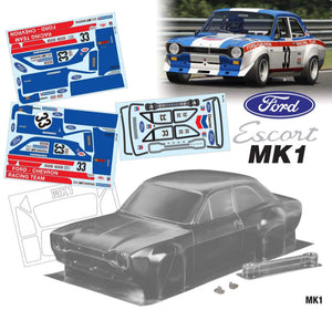 Mk1 Escort Bodyshell Kit 190mm CHEVRON Tamiya Chassis