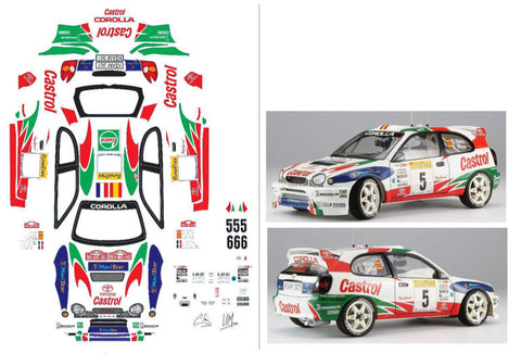 TOYOTA COROLLA WRC BODY PARTS SET  50791 replica