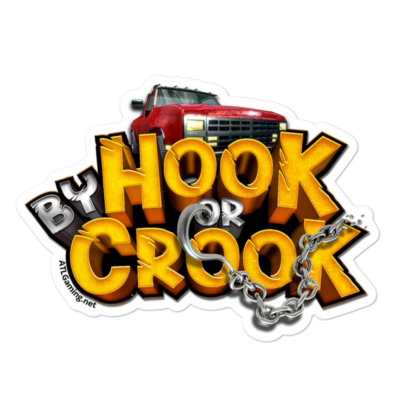 Bubble-free stickers By Hook or Crook promo sticker