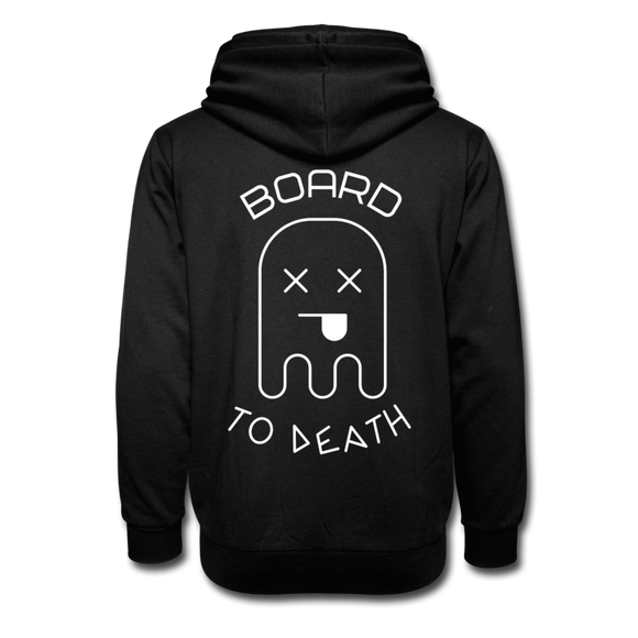 CANT WAIT TO SKATE - BOARD TO DEATH Unisex Shawl Collar Hoodie - black
