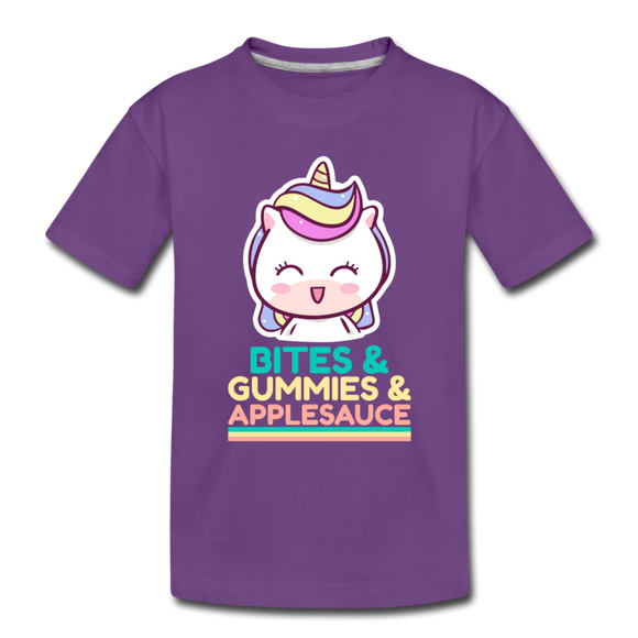 Bites Gummies Applesauce - Toddler Premium T-Shirt - purple