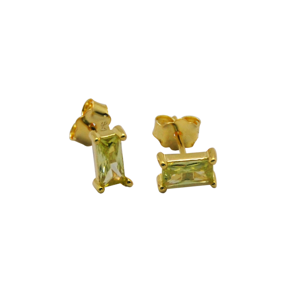 PENDIENTES RECTANGLE YELLOW ORO