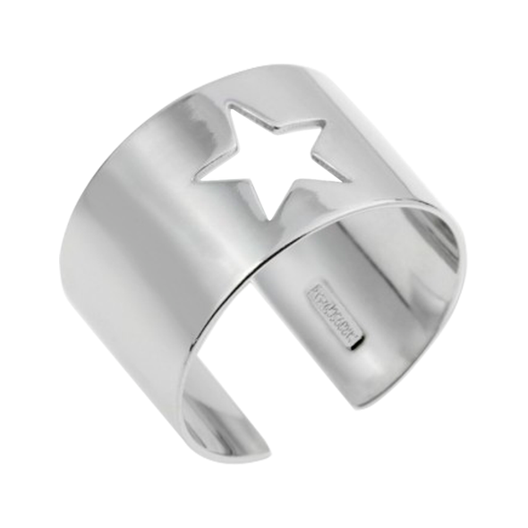ANILLO STAR HOLE PLATA
