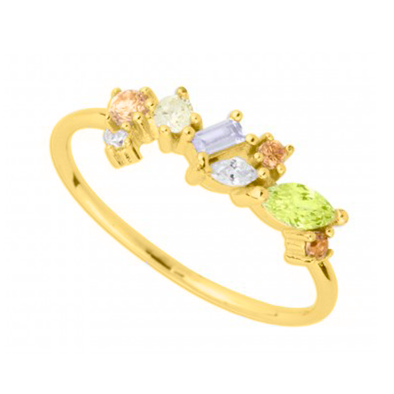 ANILLO MULTI COLORS 1 ORO