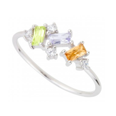 ANILLO MULTI COLORS 2 PLATA