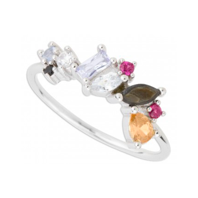 ANILLO MULTI COLORS 3 PLATA