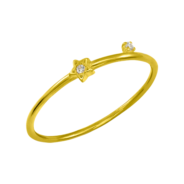 ANILLO DOUBLE STONE STAR ORO
