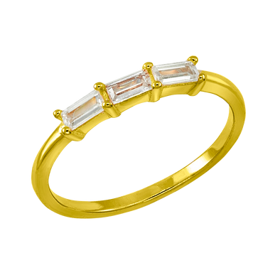 ANILLO THREE RECTANGLE ORO