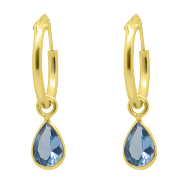 PENDIENTES HOOP TEARS 6 COLORS GOLD
