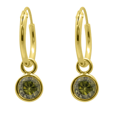 PENDIENTES HOOP COLORS STONE GOLD