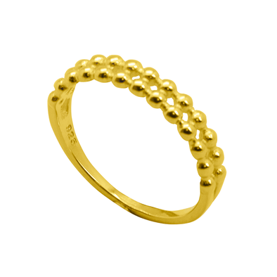 ANILLO DOUBLE DOTS ORO