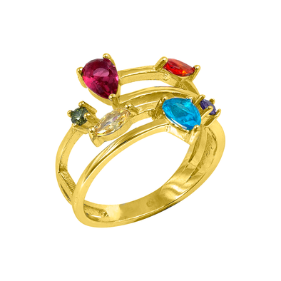 ANILLO STONE COLORS ORO