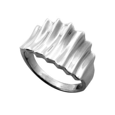 ANILLO WAVES PLATA