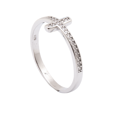 ANILLO LIGHT CROSS SILVER