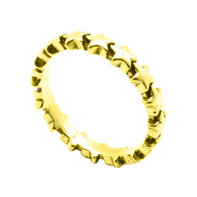 ANILLO STAR LINE GOLD