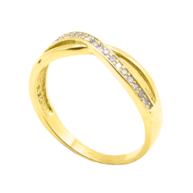 ANILLO CROSSED LINES GOLD