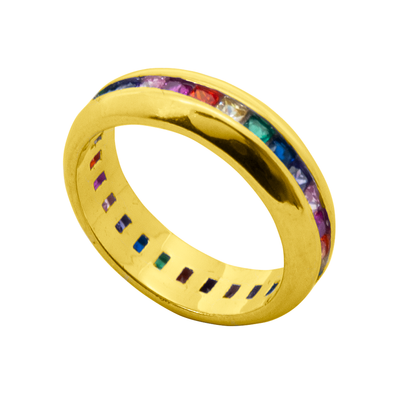 ANILLO LINE COLORS ORO