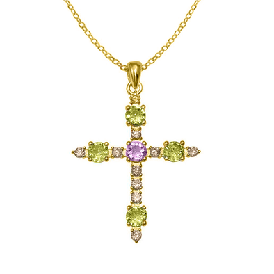 COLGANTE ISABELINA GREEN CROSS ORO