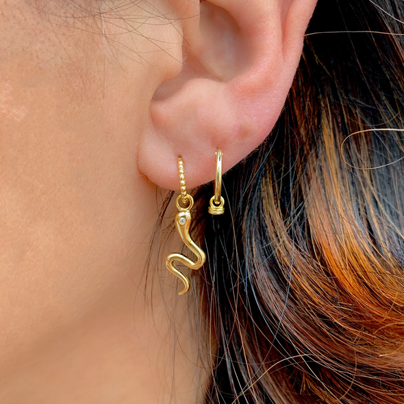 PENDIENTES BLACK DROP GOLD