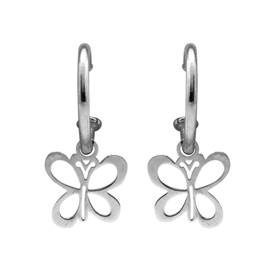 PENDIENTES BUTTERFLY SILVER