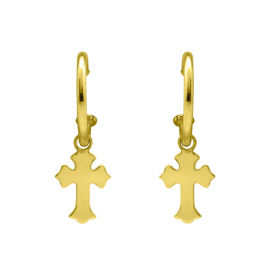 PENDIENTES LITTLE CROSS ORO