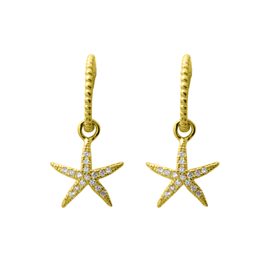 PENDIENTES STAR STONE GOLD
