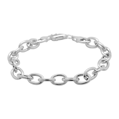 PULSERA STACKING CHAIN SILVER