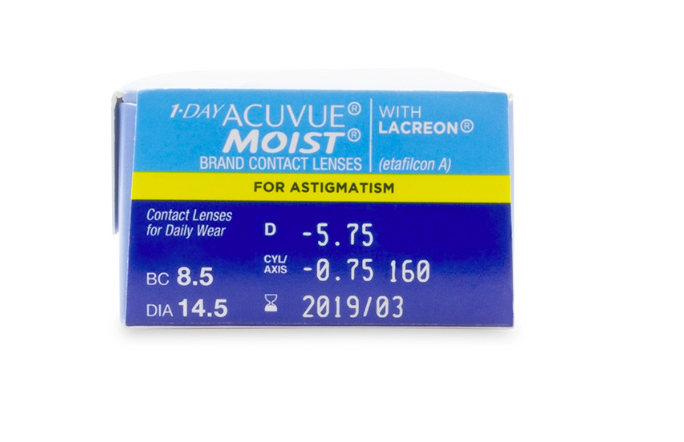 1 Day Acuvue Moist for Astigmatism 30-Pack - Lensbox™