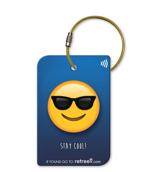 retreev SMART Bag / Luggage Tag - Emoji Shades