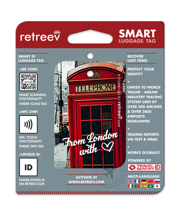 retreev SMART Bag / Luggage Tag - From London with love