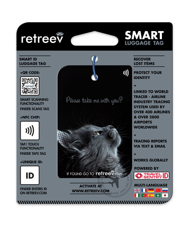 retreev SMART Bag / Luggage Tag - Cat